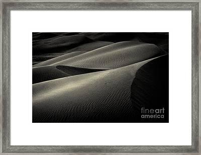 Sand Dunes At Sunset - 236 Framed Print