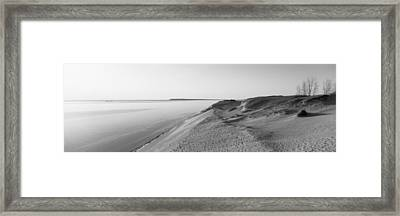 Sand Dunes At The Lakeside, Sleeping Framed Print
