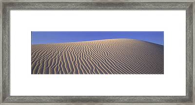 Sand Dunes Death Valley National Park Framed Print by Panoramic Images