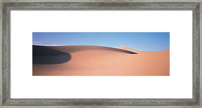 Sand Dunes Death Valley Nv Usa Framed Print by Panoramic Images