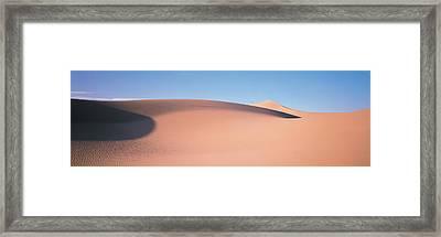 Sand Dunes Death Valley Nv Usa Framed Print