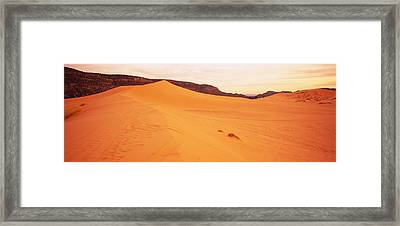 Sand Dunes In A Desert, Coral Pink Sand Framed Print by Panoramic Images