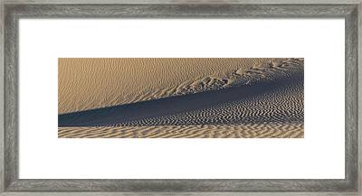Sand Dunes In A Desert, Eureka Dunes Framed Print by Panoramic Images