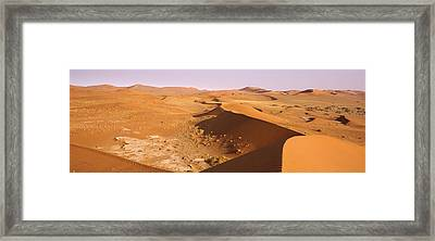Sand Dunes In A Desert, Namib-naukluft Framed Print by Panoramic Images