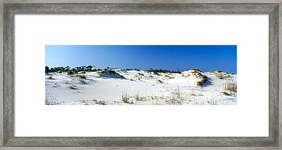 Sand Dunes In A Desert, St. George Framed Print by Panoramic Images