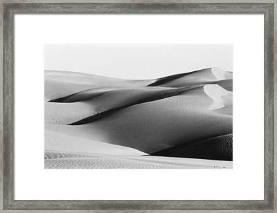Sand Dunes In Desert Framed Print by Jagdish Agarwal