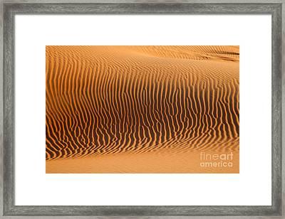 Sand Dunes In Dubai Framed Print