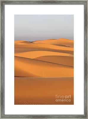 Sand Dunes In The Sahara Desert Framed Print by Robert Preston