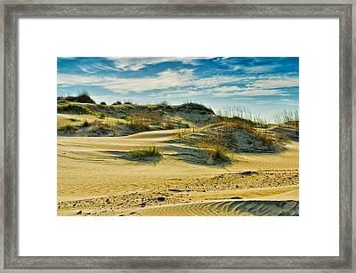 Sand Dunes Framed Print by Louis Dallara