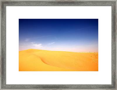 Sand Dunes Framed Print by Manu G