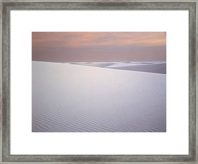 Sand Dunes Of Gypsum In The Morning Framed Print by Panoramic Images