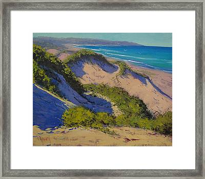 Sand Dunes Oil Painting Framed Print
