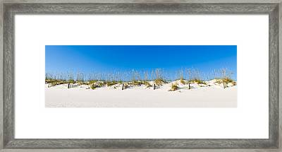 Sand Dunes On Gulf Of Mexico, Orange Framed Print