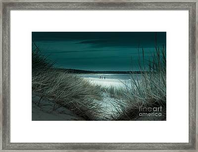 Sand Dunes On The Baltic Coast Of Oland At Boda Sand Sweden Framed Print