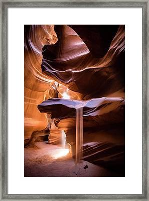 Sand Fall Framed Print