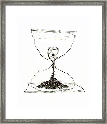 Sand Glass Framed Print by Michal Boubin