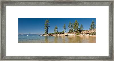 Sand Harbor At Morning, Lake Tahoe Framed Print by Panoramic Images
