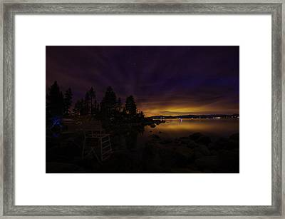 Sand Harbor Lake Tahoe Astrophotography Framed Print by Scott McGuire