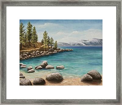 Sand Harbor Lake Tahoe Framed Print