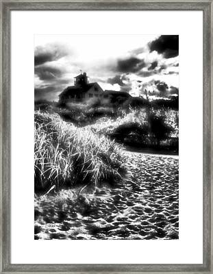 Framed Print featuring the photograph Sand In Ma Shoes by Robert McCubbin