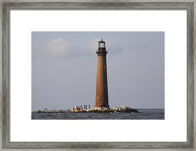 Sand Island Lighthouse - Once 40 Acres Framed Print