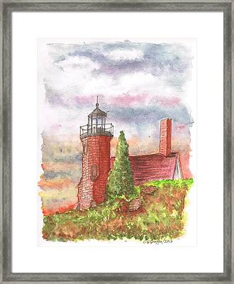 Sand Island Lighthouse - Wisconsin Framed Print