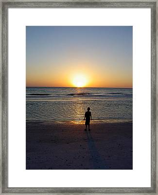 Framed Print featuring the photograph Sand Key Sunset by David Nicholls
