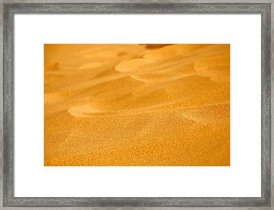 Sand Framed Print by Manu G