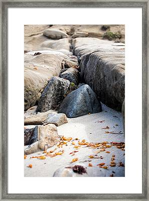Sand Pyramids Framed Print by Peter Tellone
