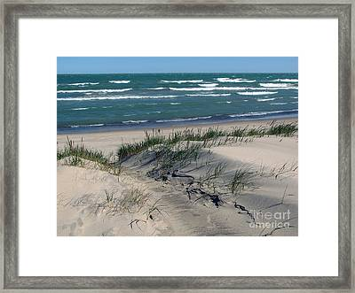 Sand Ripples 2 Framed Print by Cedric Hampton