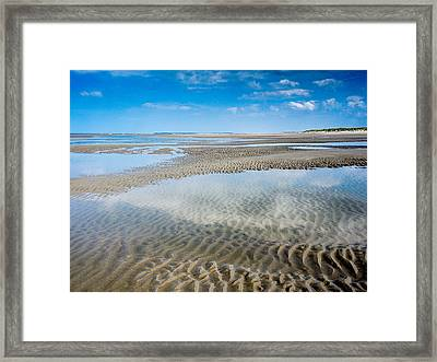Sand Ripples And Tide Pools  No2 Framed Print by Martin Liebermann