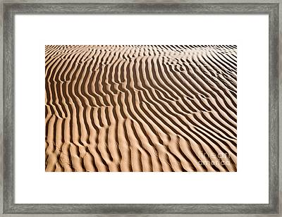 Sand Ripples Framed Print by Delphimages Photo Creations