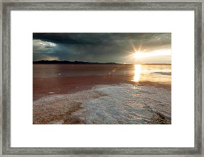 Sand Salt And Sunshine Framed Print