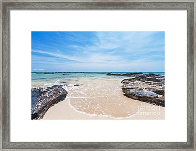 Sand Sea And Sky Framed Print