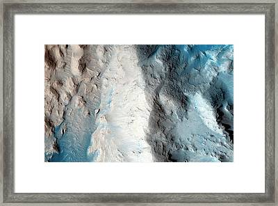 Sand Slopes On Mars Framed Print