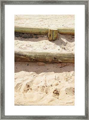 Sand Steps Framed Print by Stephanie Guinn