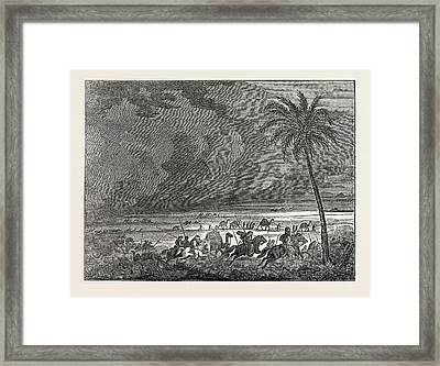 Sand Storm In The Desert Of Sahara Framed Print by English School