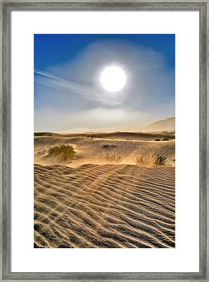 Sand Storm In The Mesquite Dunes 2 Framed Print
