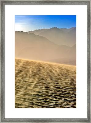 Sand Storm In The Mesquite Dunes Framed Print