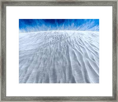 Sand Storm On The Horizon Framed Print by Julian Cook