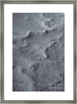 Sand Swirls Framed Print