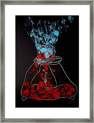 Sand Timer Of Love Framed Print