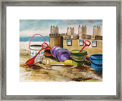 Sand Tools Framed Print by John Williams