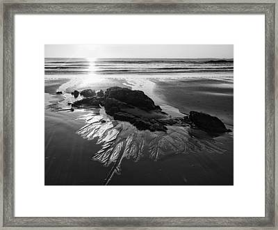 Sand Traces Framed Print