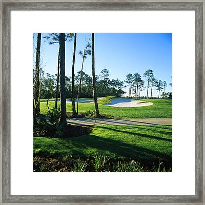 Sand Trap In A Golf Course, Regatta Bay Framed Print by Panoramic Images