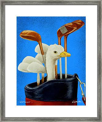 Sand Trap Pro... Framed Print by Will Bullas