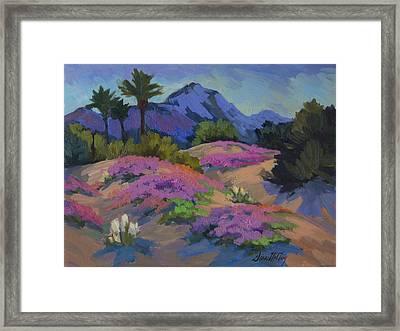 Sand Verbena Back Lit Framed Print by Diane McClary
