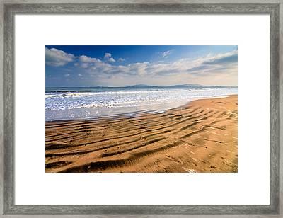 Sand Waves Framed Print