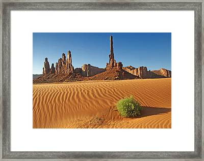 Framed Print featuring the photograph Sand Waves by Paul Miller