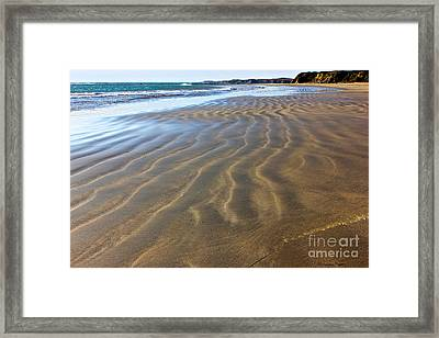 Sand Waves Framed Print by Shannan Peters